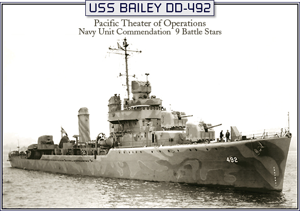USS BAILEY HULL-8024 DELIVERY MAY 9th 1942